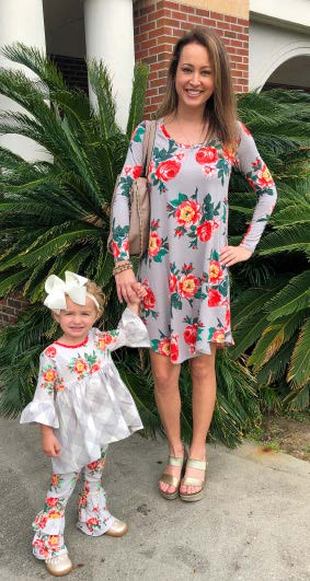 Kristin Evans and 2-year-old daughter Courtney